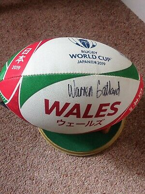 Rugby World Cup 2019 Warren Gatland Wales Signed Rugby Ball • 130£