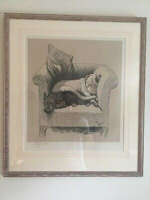 £675 • Buy Cecil Aldin, Original Signed Lithograph,  Weight Will Tell  Frame 24  X 20.75