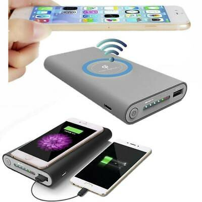 AU13.77 • Buy 50000mAh Power Bank Qi Wireless Charging 2 In1 USB Portable Battery Charger Kit