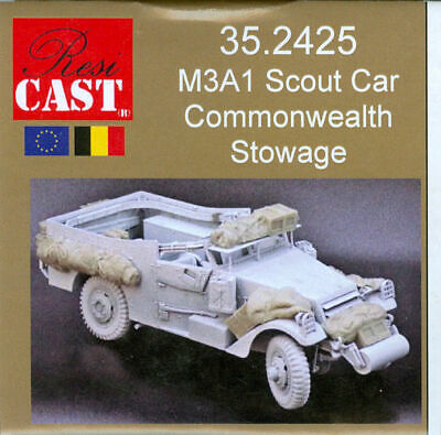 $33.95 • Buy M3A1 Scout Car Commonwealth Stowage, Resicast 35.2425, Resin 1/35 Scale