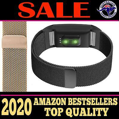 AU12.44 • Buy For Fitbit Charge 2 Band Metal Stainless Steel Milanese Loop Wristband Strap