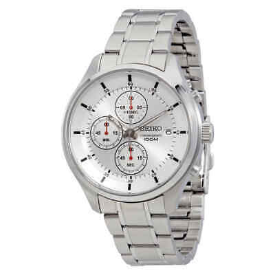 $ CDN108.37 • Buy Seiko Chronograph Silver Dial Stainless Steel Men's Watch SKS535