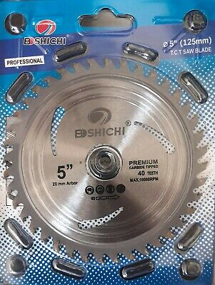 "AU8.20 • Buy Circular Saw Blade 125mm 5"" 40T Teeth Cutting Wood Working Blade Bore 22mm #1901"