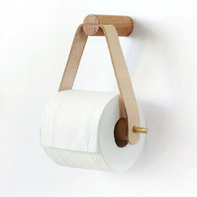AU15.21 • Buy Toilet Paper Roll Holder Wood Bathroom Tissue Storage Dispenser Wall Mounted Box