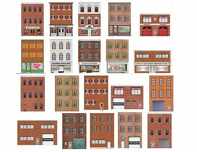 $ CDN28.14 • Buy HO Scale Flat Front Buildings For Model Trains - 20 Total Front And Rear Sides