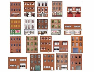 $ CDN26.51 • Buy HO Scale Flat Front Buildings For Model Trains - 20 Total Front And Rear Sides