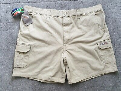Sterling OUTDOOR Mens Light Khaki Safari Cargo Cotton Shorts New With Tags  40 • 22£