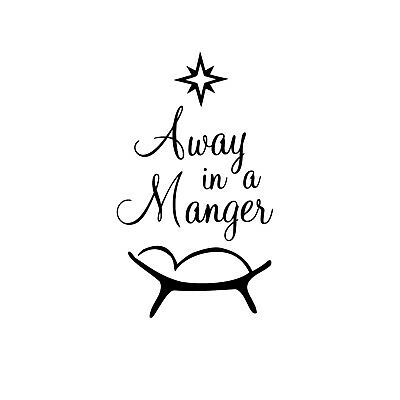 £4.97 • Buy Away In A Manger Unmounted Rubber Stamp - Religious Christmas - Nativity #26