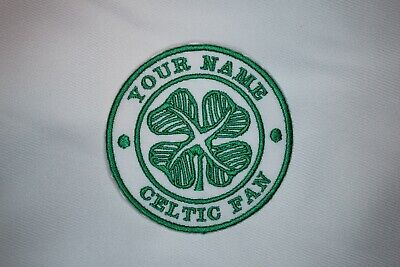 CELTIC - CFC - PERSONALISED 'YOUR NAME' 'CELTIC FAN' Iron On / Sew On Patch • 3.25£