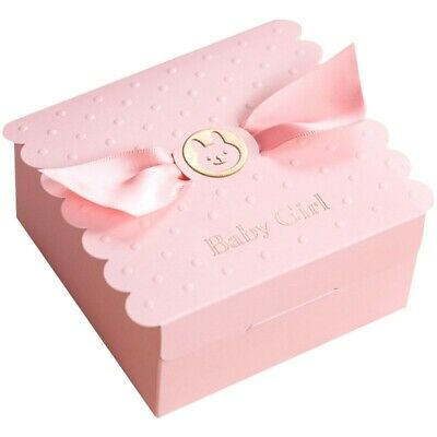 5 Pink Baby Shower Christening Favour Box For A Girl Baby Girl Chocolate Box • 2.40£