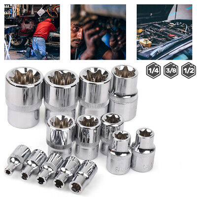 $11.92 • Buy 14PCS Torx Star Bit Female E Socket Set Automotive Shop Tools External E4-E24
