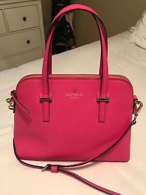$50 • Buy KATE SPADE NEW YORK Paterson Drive Pink Fuchsia Leather Handbag Purse Satchel