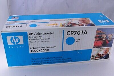 $8.95 • Buy Genuine HP Printer Toner C9701A Cyan Color LaserJet 1500 2500 Series Sealed NOS