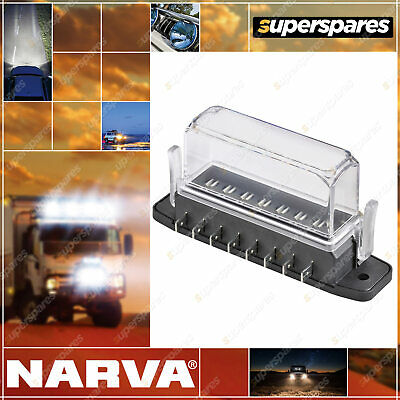 AU38.99 • Buy Narva 8-Way Ats Fuse Box With Tall Transparent Cover Gasket And 8 Terminals