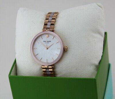 $ CDN147.47 • Buy New Authentic Kate Spade Holland Rose Gold Pink Blush Women's Ksw1263 Watch