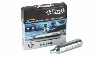£13.95 • Buy Walther VALVE Maintenance Capsules CO2 Umarex Cartridge ADDED CO2 & OIL 5 X 12g