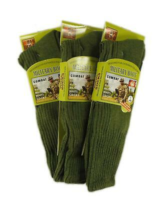 3 Pairs Of Mens Army Socks Thermal Long Military Socks Heat Tog, Size 6-11 • 7.95£
