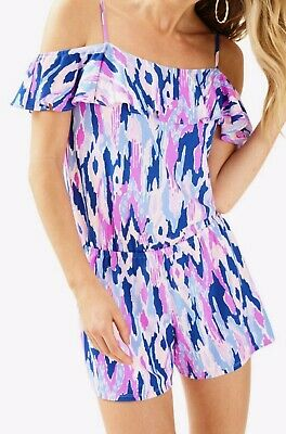 $29.99 • Buy  Lilly Pulitzer Klea Off The Shoulder Romper SZ XXS Amethyst One Too Many