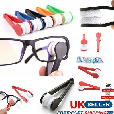 Glasses Lens Microfibre Cleaner Spectacles Eyeglasses Brush Wipers Cleaning Tool • 2.15£