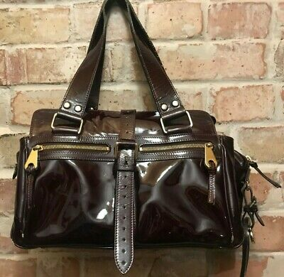 £165 • Buy Mulberry Burgundy  Patent Leather Mabel Bag