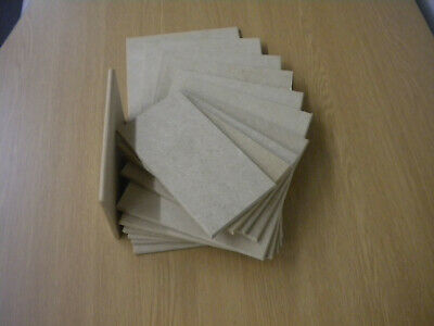 £1.95 • Buy Wooden MDF Blank Plaque Rectangles, Various Sizes,With Or Without Holes