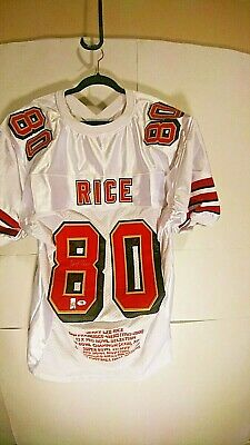 $ CDN238 • Buy Jerry Rice Signed 49ers White Stat Jersey Psa/dna Certfified Size Xl