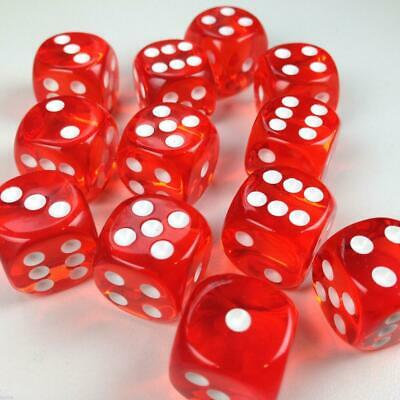 AU23.86 • Buy 12D6 Translucent Red Dot Dice - Chessex Free Shipping!