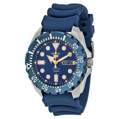 $ CDN209.22 • Buy Seiko Diver Automatic Blue Dial Blue Rubber Men's Watch SRP605K2