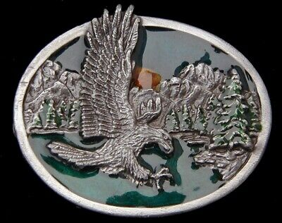 $12.95 • Buy Small Size Attacking Eagle Belt Buckle Vintage 1985
