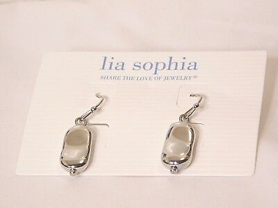 $ CDN10.50 • Buy Adorable Lia Sophia  PEANUT  Pierced Dangle Earrings, NWT