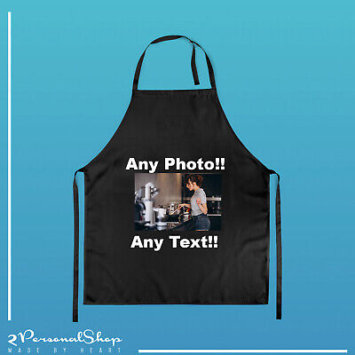 £12.99 • Buy Personalised Apron Custom Printed Master Head Cooking Chef Logo Text Any Photo
