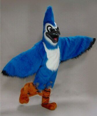 Blue Eagle Mascot Costume Suit Cosplay Party Fancy Dress Outfit Halloween Adults • 215.28£