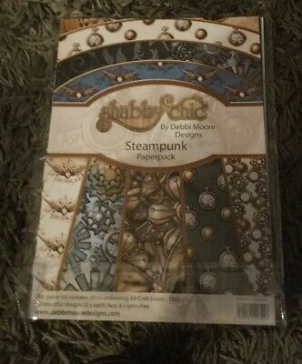 Debbi Moore Shabby Chic Steampunk Paper Pack • 9.99£