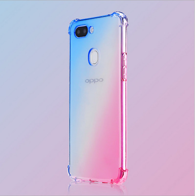 AU7.06 • Buy For Lot OPPO Gradient Silicone TPU Bumper Soft Back Case Cover