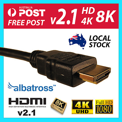 AU8.95 • Buy Albatross HDMI Cable 1m,1.5m,2m,3m,4m,5m V2.0b V2.1 High Speed With Ethernet
