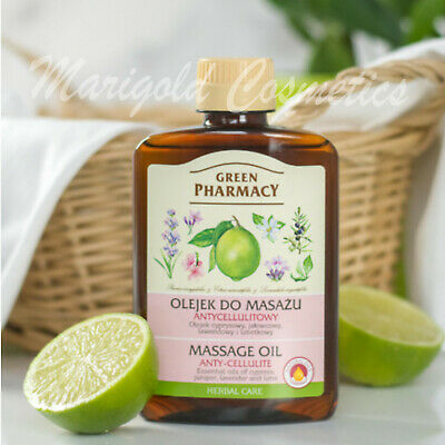 Green Pharmacy NATURAL Firming Body Massage Oil ANTI-CELLULITE Stretch Marks • 6.26£