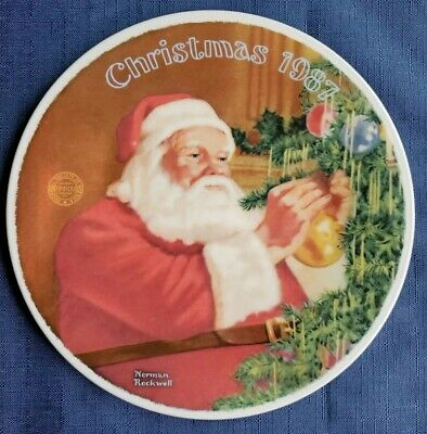 $ CDN12.67 • Buy  Santa's Golden Gift  Norman Rockwell Christmas 1987 Plate