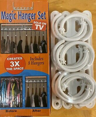 $5.95 • Buy Sold On Tv Products Magic Hanger Set Creates 3x The Space - New In Package