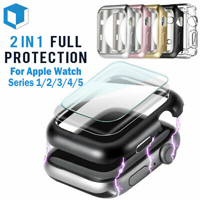 $ CDN3.39 • Buy For Apple Watch Series 5 /4 /3/2/1 Bumper Case 40MM 44MM Full Screen Protector
