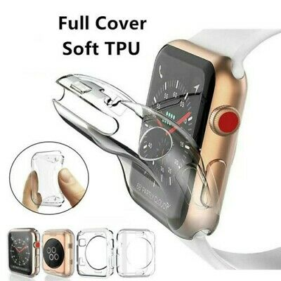 $ CDN3.39 • Buy For Apple Watch Series 5 4 3 2 38/42mm 40/44mm IWatch Soft TPU Full Cover Case