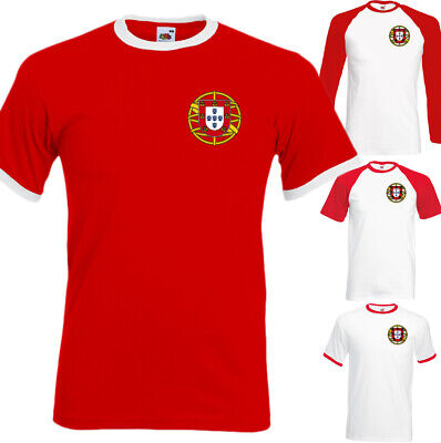 Portugal Football T-Shirt Mens Portuguese Ronaldo Unisex Top Soccer World Cup  • 8.49£