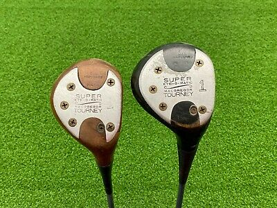 $39.99 • Buy MacGregor Golf TOURNEY SUPER EYE-O-MATIC M65W & M75W DRIVER SET Persimmon Right