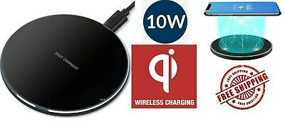AU9.09 • Buy FAST Charging Qi Wireless Charger Pad Receiver For IPhone 11 XS XR 8 Galaxy 9 10