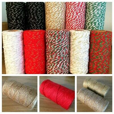 Habicraft Various Bakers Twine 2mm *Choose * Craft Gift Wrap Balloon String Jute • 1.95£