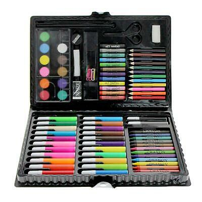 90pc Art Set Kids Watercolour Pens Crayons Pencils Sponge Scissors Oil Pastels • 6.99£