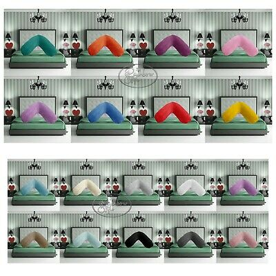 Teddy V Shaped Neck Back Pillow Cushion Case Pregnancy Maternity Covers Only • 2.99£
