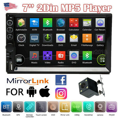 $81.29 • Buy 7'' Double Din Car Stereo Head Unit Touch MP5 Player USB Radio Backup Camera