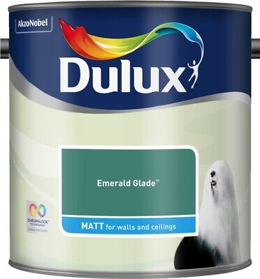 Dulux Smooth Creamy Emulsion Matt Paint Emerald Glade 2.5L Walls And Ceiling  • 22.49£