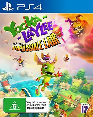 AU49 • Buy Yooka Laylee And The Impossible Lair PS4 Playstation 4 Brand New