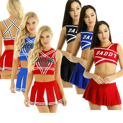 £11.30 • Buy Women Adult High School Musical Cheerleader Costumes Dress Skirt Clothes Outfit